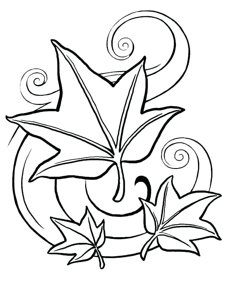 770x963 Fall Coloring Pages Printable