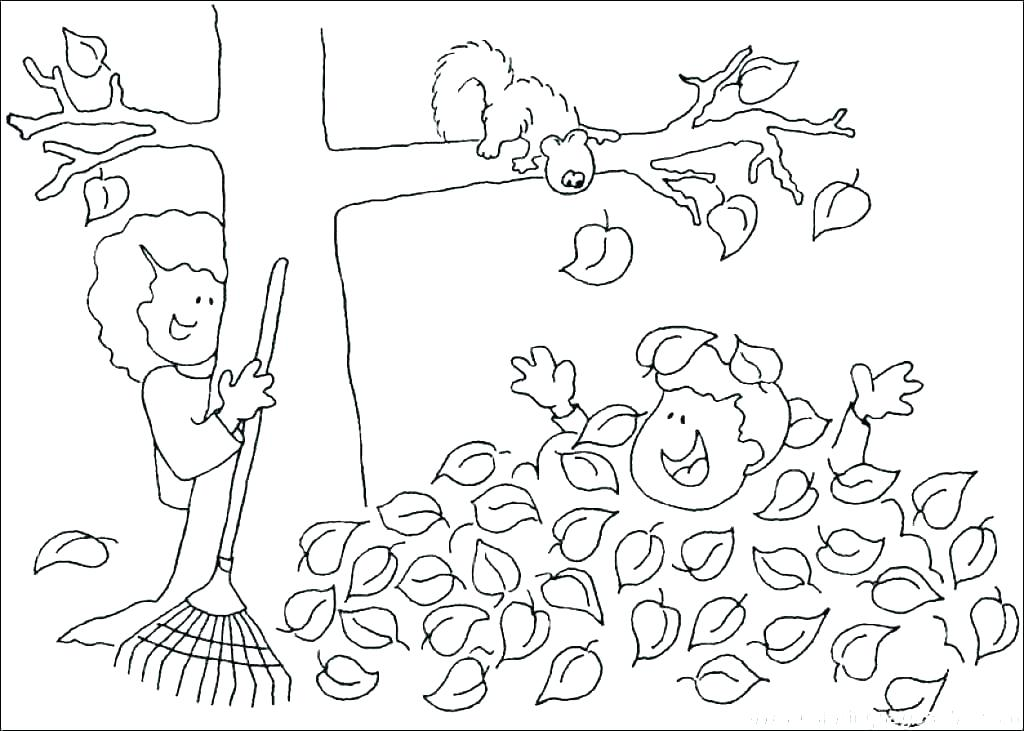 1024x731 Free Coloring Pages Fall Autumn Coloring Pages Fall Tree Leaf