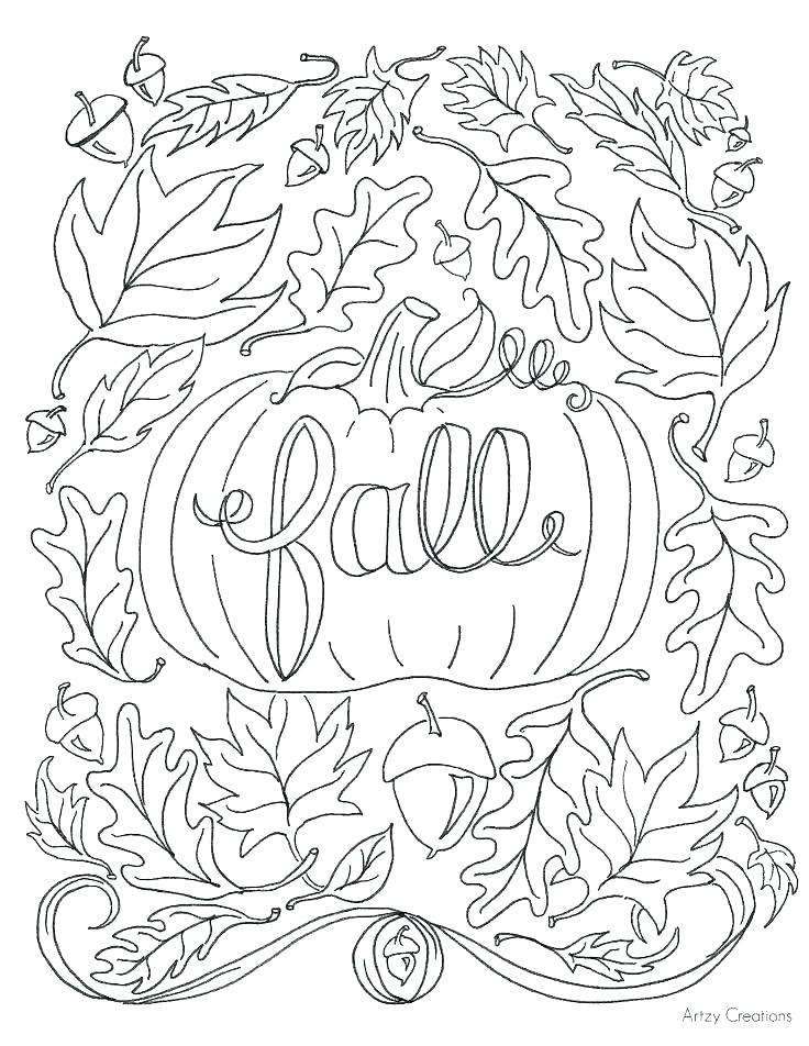 736x952 Printable Fall Coloring Pages For Kids Sheets Free Disney