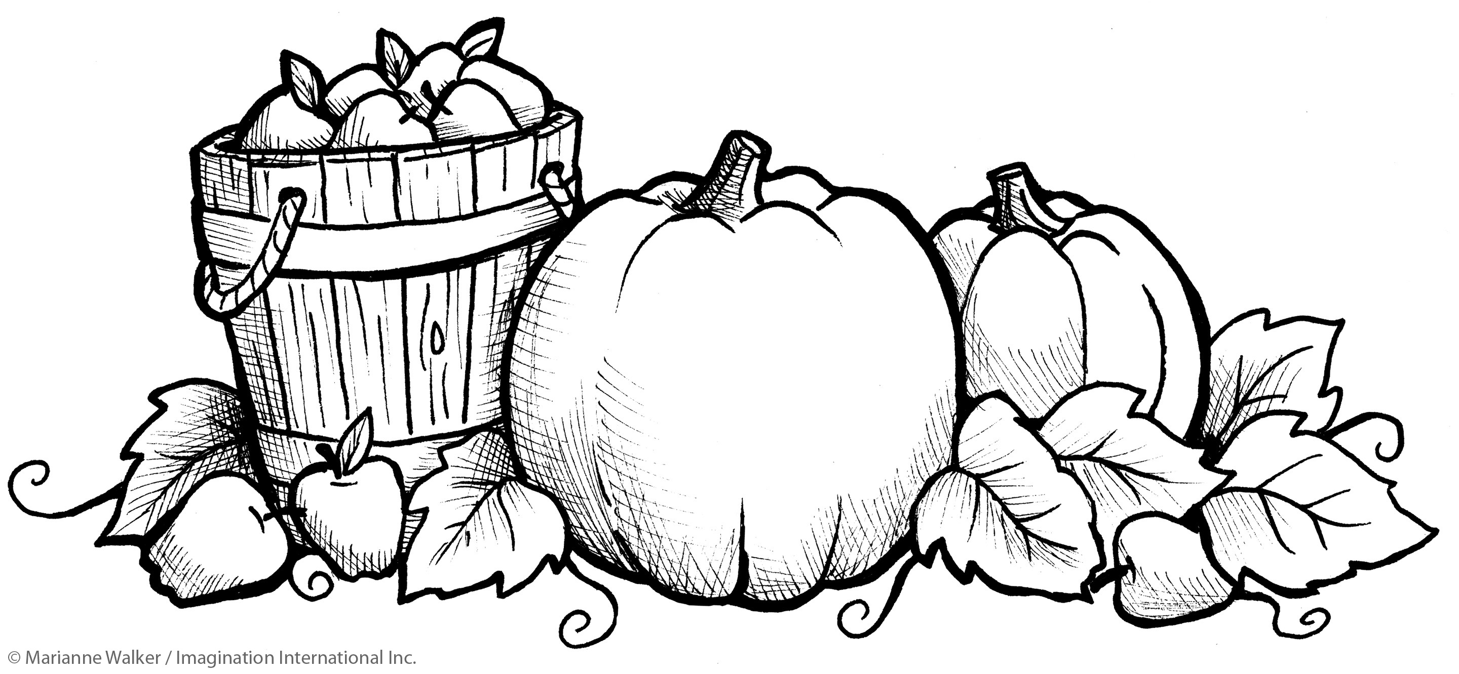 2880x1332 Fall Coloring Pages Free Printable