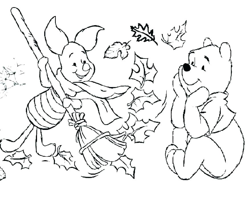 878x732 Fall Printable Coloring Pages