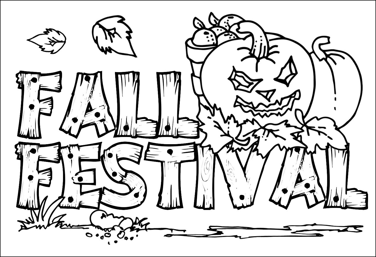 1462x1000 Fall Coloring Pages Printable Free