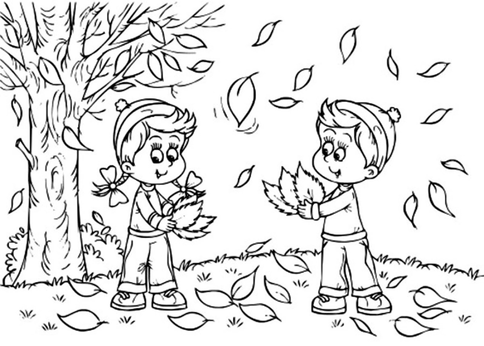 1600x1144 Fall Coloring Sheets For Kids
