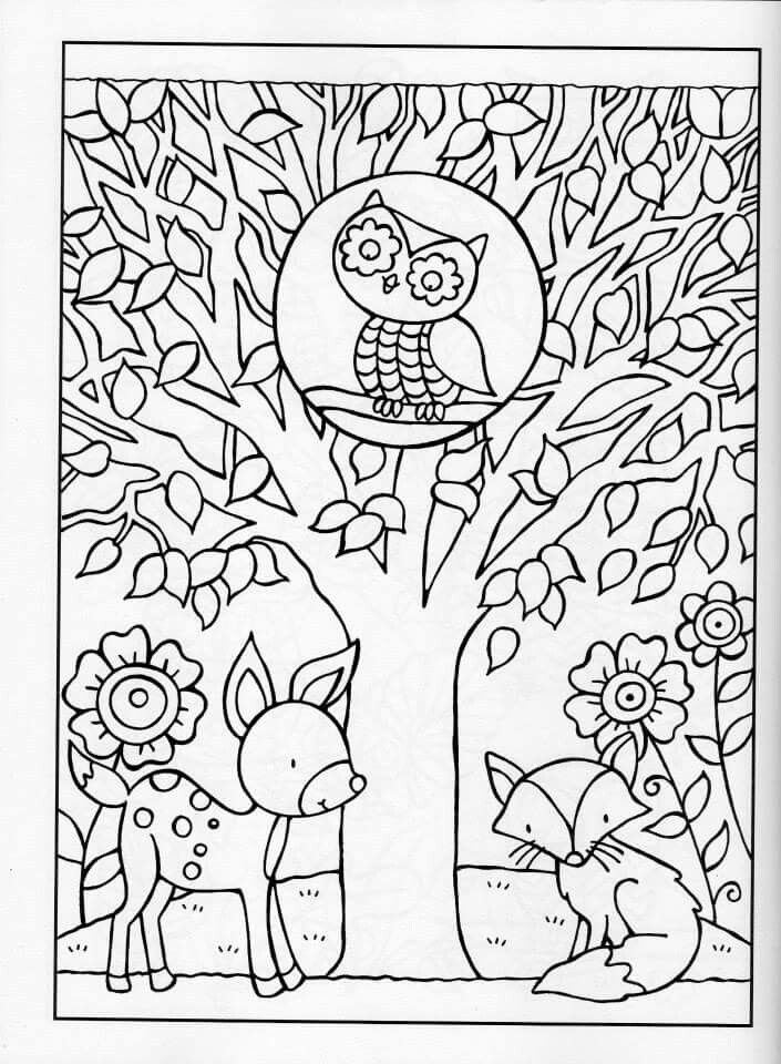 705x960 Fall Coloring Pages