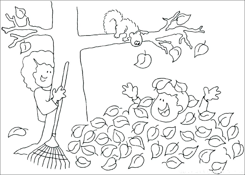 1024x731 Fall Pictures To Color And Print Kindergarten Fall Coloring Pages