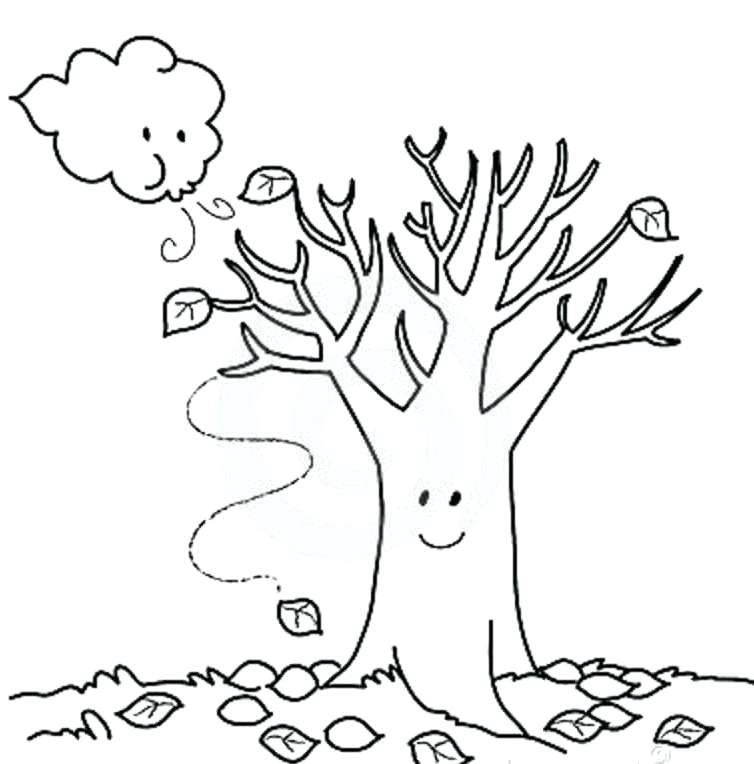 754x764 Autumn Coloring Pages Autumn Coloring Page Free Autumn Coloring