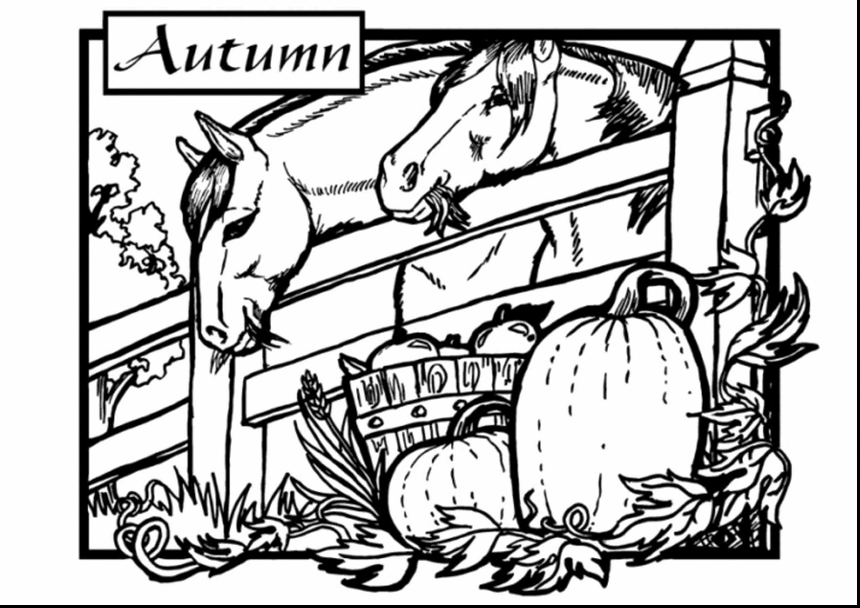 2805x1985 Printable Fall Coloring Pages Picture Highest Clarity Free Harvest