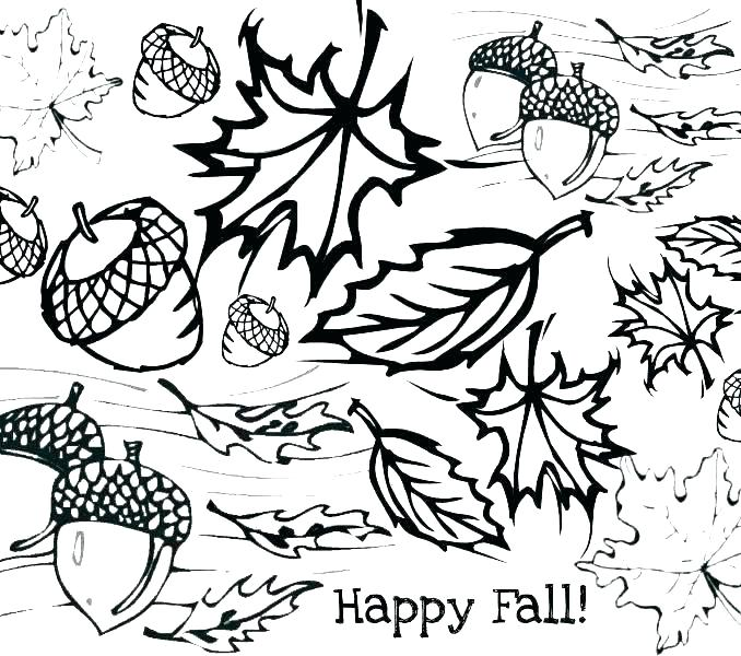 678x600 Fall Coloring Pages Free Coloring Autumn Coloring Pages Free