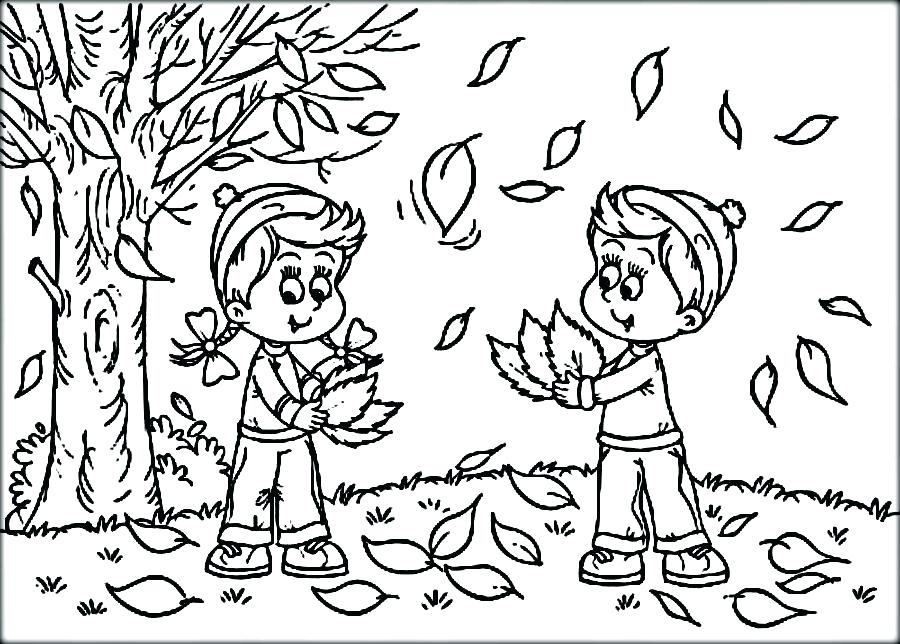 900x644 Fall Festival Coloring Pages Coloring Pages Autumn Boy And Girl