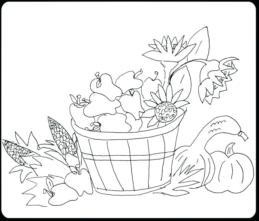 863x737 Fall Festival Coloring Pages Harvest Spectacular Clip Art Black