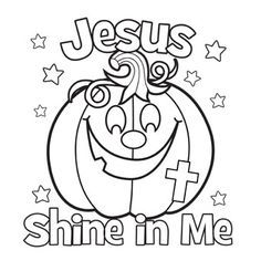 236x236 Jesus Shine In Me Coloring Picture For Halloween Back