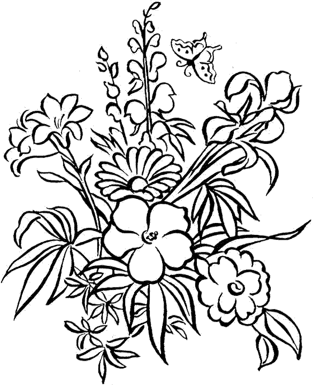 1000x1231 Enjoyable Inspiration Ideas Flower Coloring Pages Download Flowers