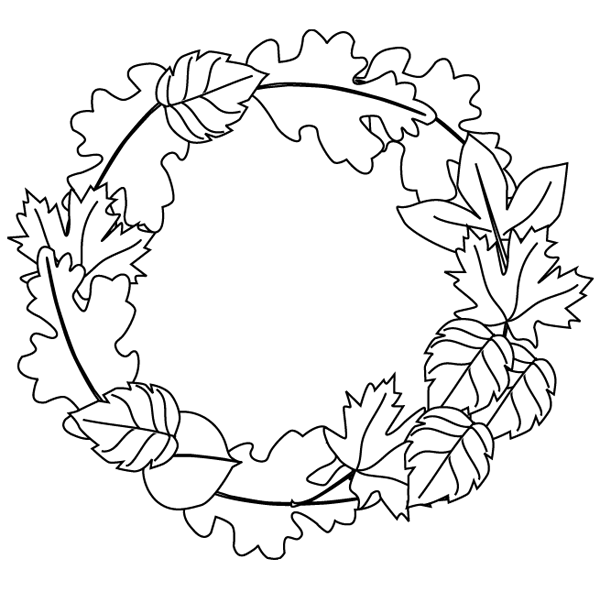 600x592 Fall Coloring Pages