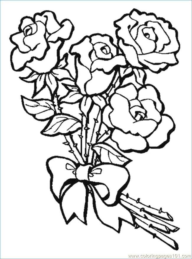 650x874 Flower Coloring Pages For Kids Printable
