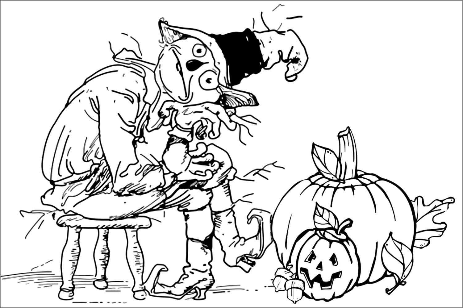 Fall Halloween Coloring Pages at GetDrawings.com | Free for ...