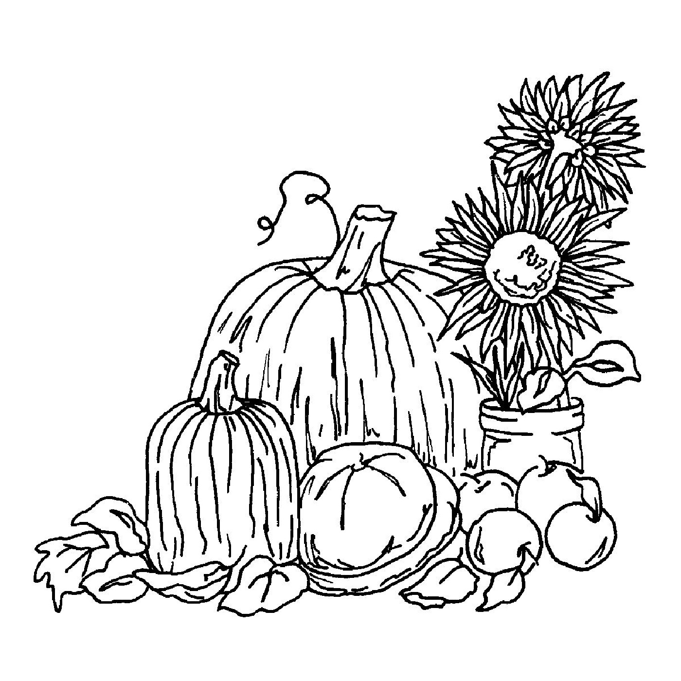 1400x1400 Fall Harvest Coloring Pages To Print Loving Printable