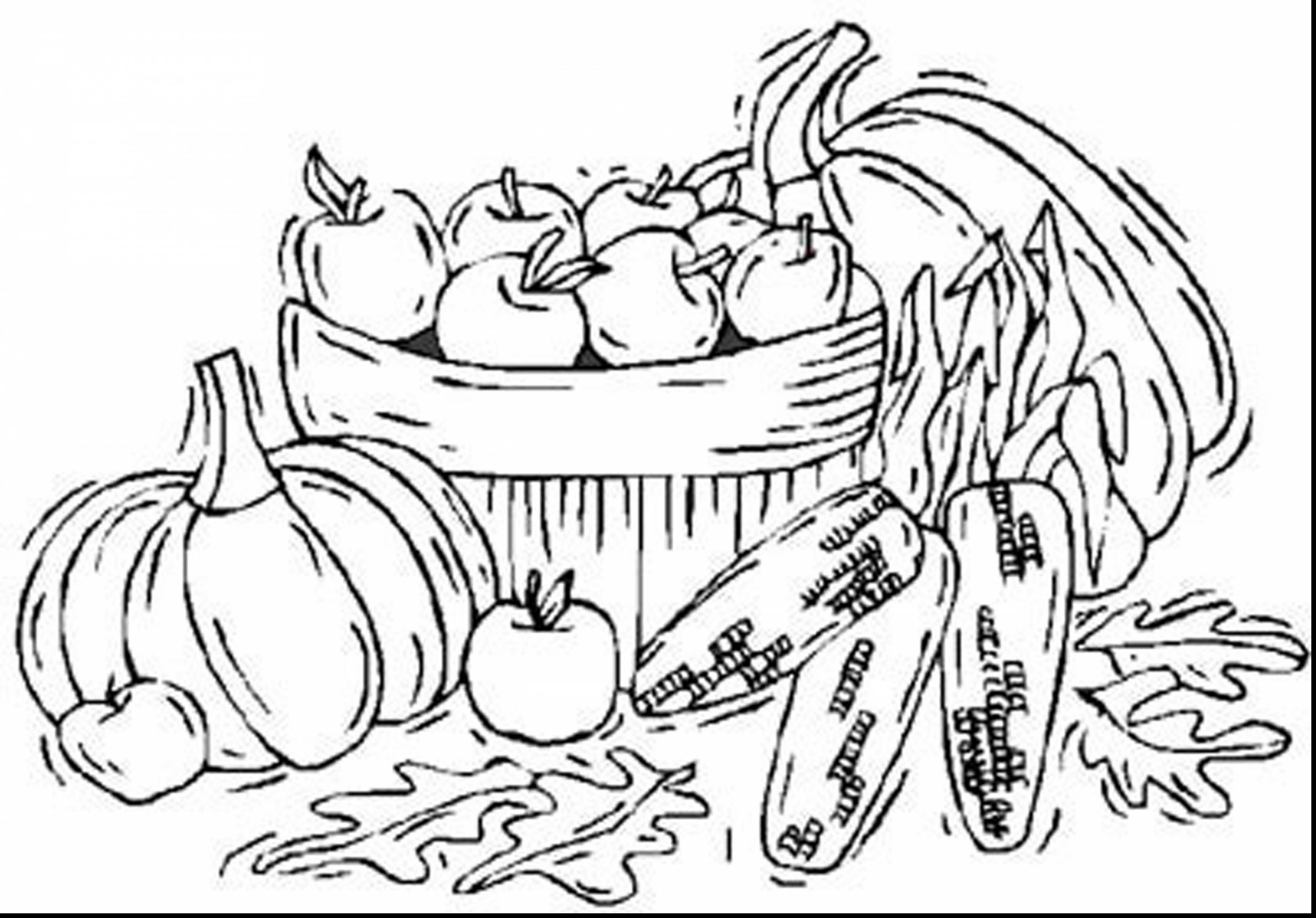 2805x1956 Thanksgiving Harvest Coloring Pages Elegant Impressive Fall