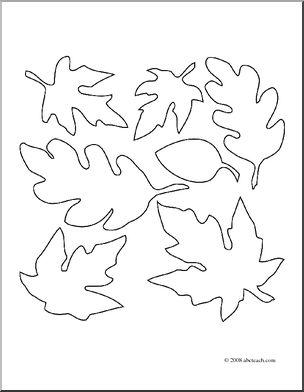 304x392 Clip Art Fall Leaves