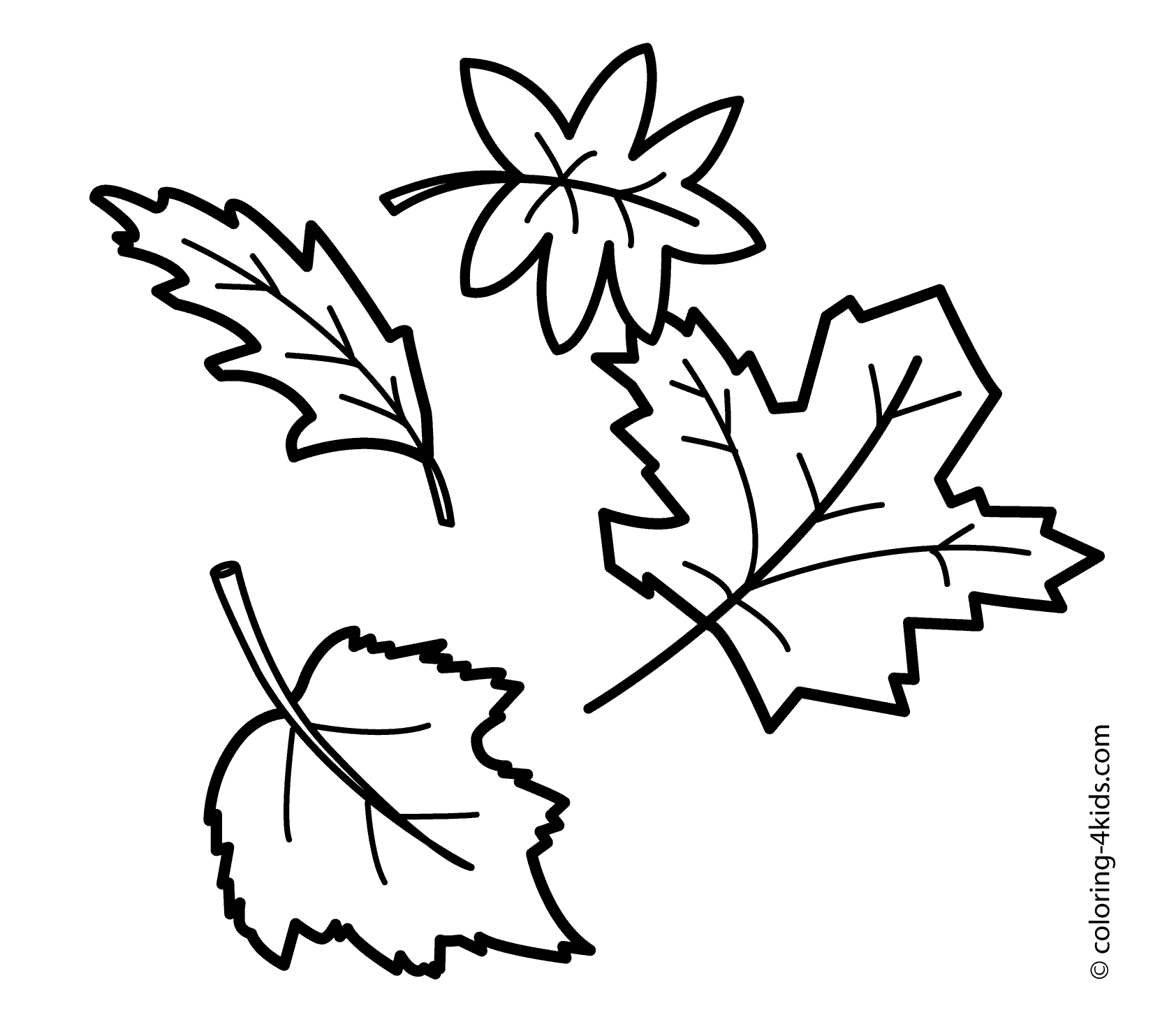 Fall leaves coloring pages for kindergarten at getdrawings com