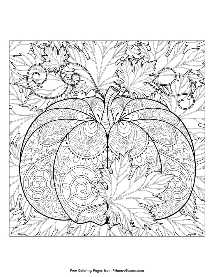 Fall Mandala Coloring Pages At Getdrawings Com Free For