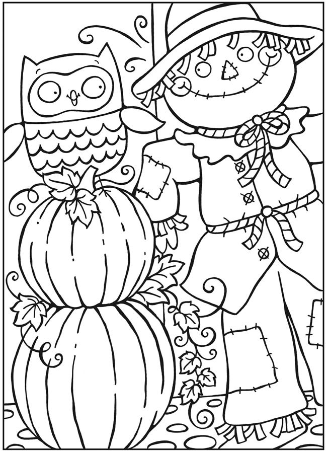 Fall Pumpkin Coloring Pages For Kids