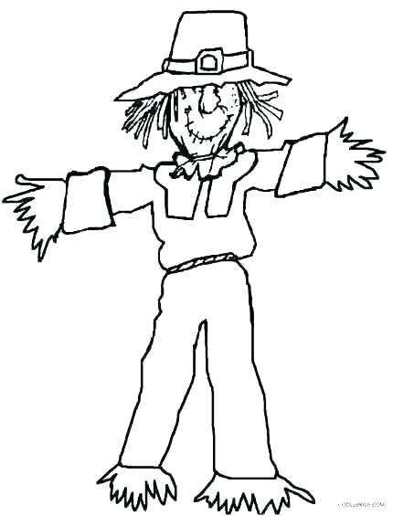 430x565 Get This Kids Printable Coloring Pages Free Online Scarecrow