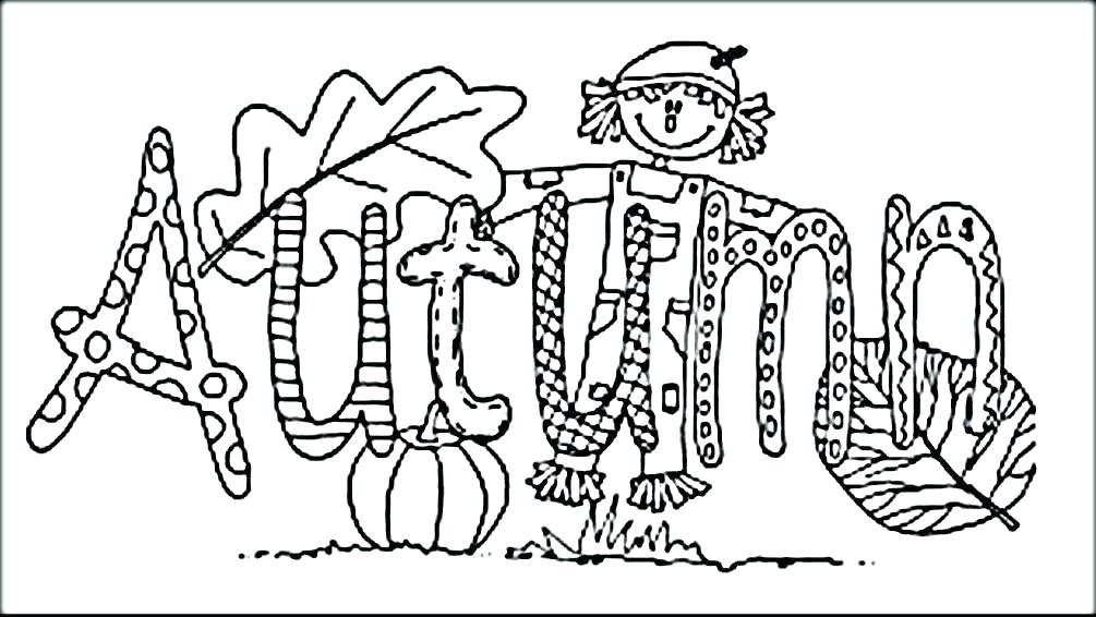 1005x566 Printable Autumn Coloring Pages Scarecrow Colouring Page