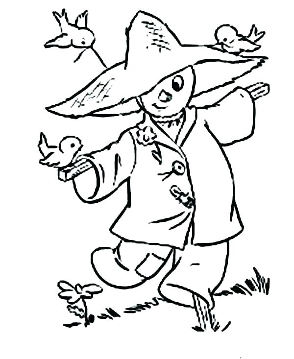 600x733 Scarecrow Color Pages Scarecrow Coloring Pages Free Scarecrow