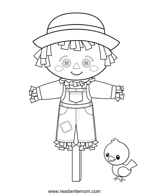 594x768 Scarecrow Coloring Page Scarecrow Coloring Pages To Color Online