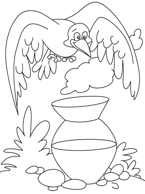 478x640 Scarecrow Coloring Pages Crow Coloring Pictures Pin Crow Colouring