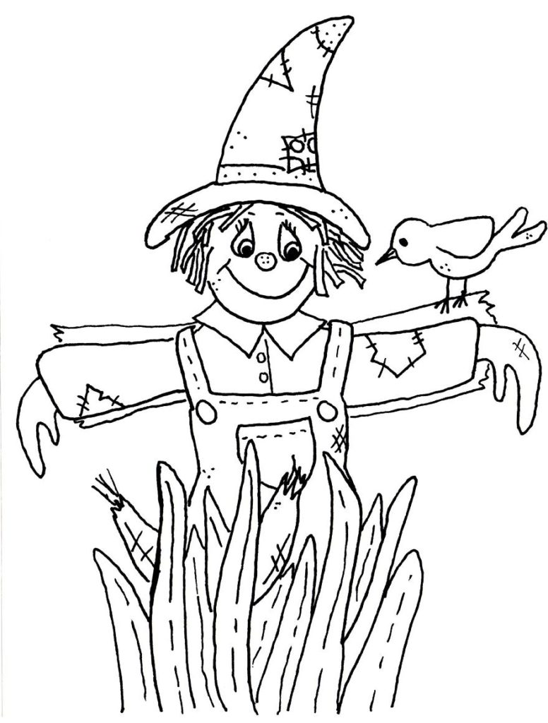 776x1024 The Scarecrow Coloring Page Printable Pages With Fall