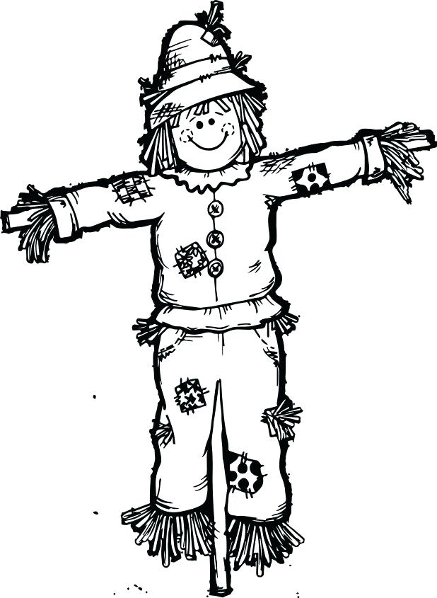 618x845 Scarecrow Coloring Pages