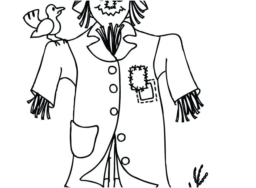 827x609 Scarecrow Coloring Pages