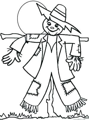 300x405 Scarecrow Coloring Pages
