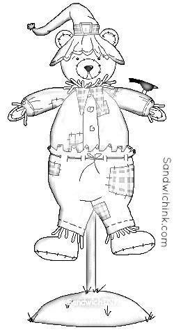 250x476 Fall Is Chasing Summer So Enjoy Fall Scarecrow Coloring Pages