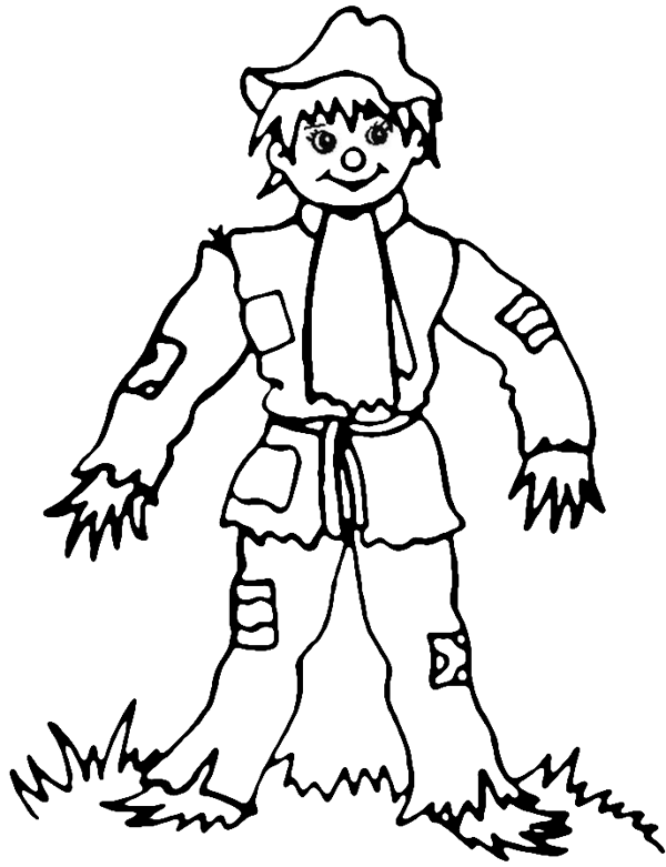 600x781 Fall Scarecrow Coloring Pages Printable Templates
