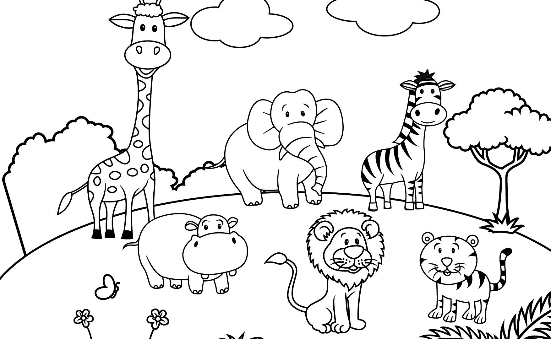 1754x1080 Natural Scenery Colouring Pages Christmas Scenes Coloring Sheets