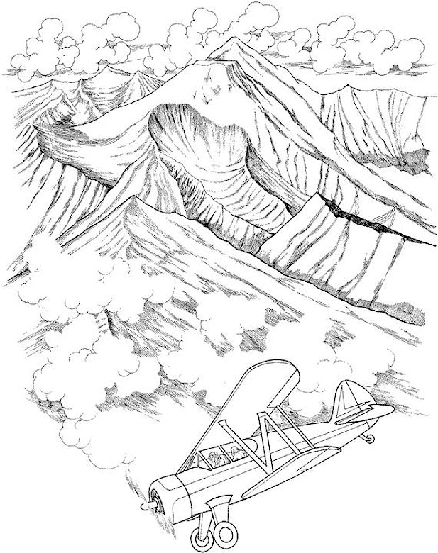 617x780 Landscape Coloring Pages For Adults