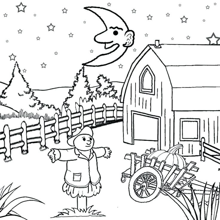 736x736 Printable Scenery Coloring Pages Best Kids Images On Adult