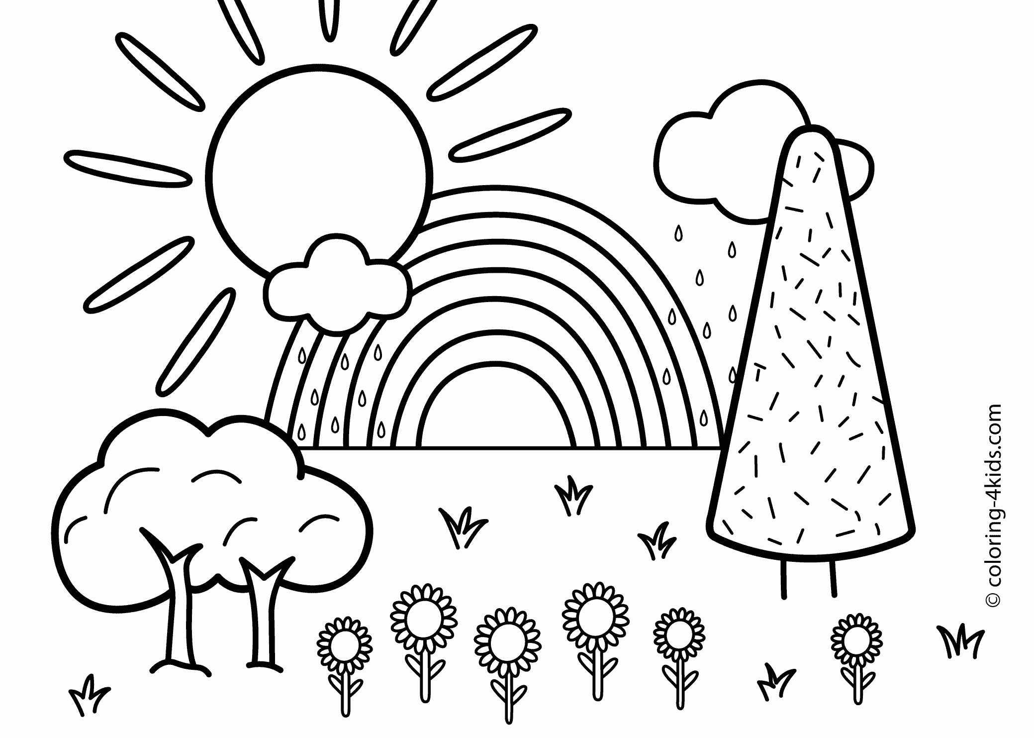 2079x1483 Scenery Coloring Pages