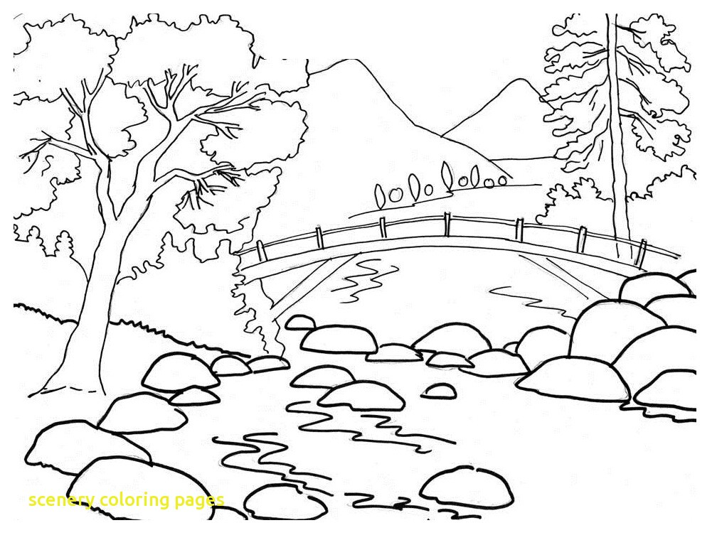 1008x760 Scenery Coloring Pages With Scenery Coloring Pages