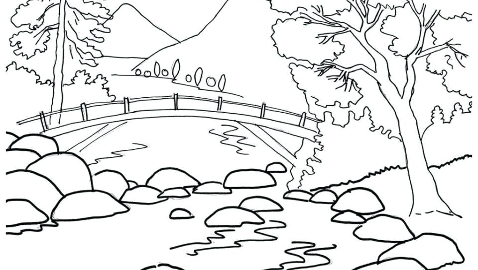 960x544 Scenery Coloring Pages