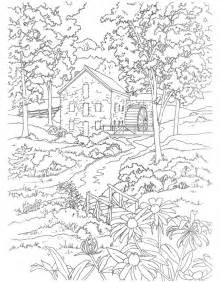 220x282 Coloring Pages Fall Scenery Coloring Pages Landscape Coloring