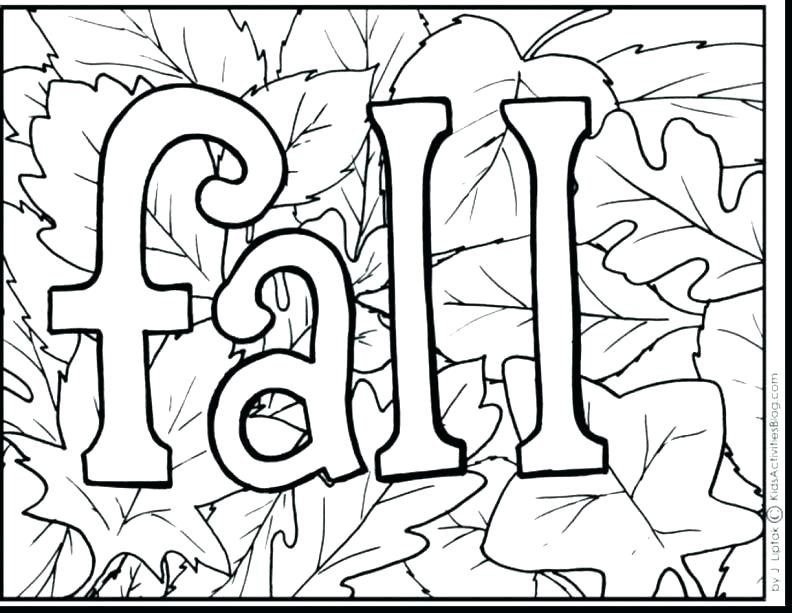 792x613 Fall Leaves Coloring Sheets Dry Leaves In Fall Season Coloring