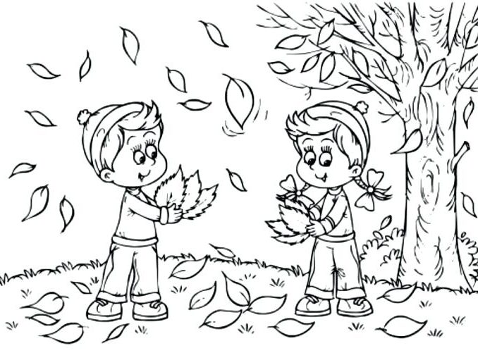 678x501 Coloring Pages Autumn Season Coloring Page
