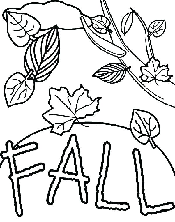601x762 Free Printable Fall Leaves Coloring Pages