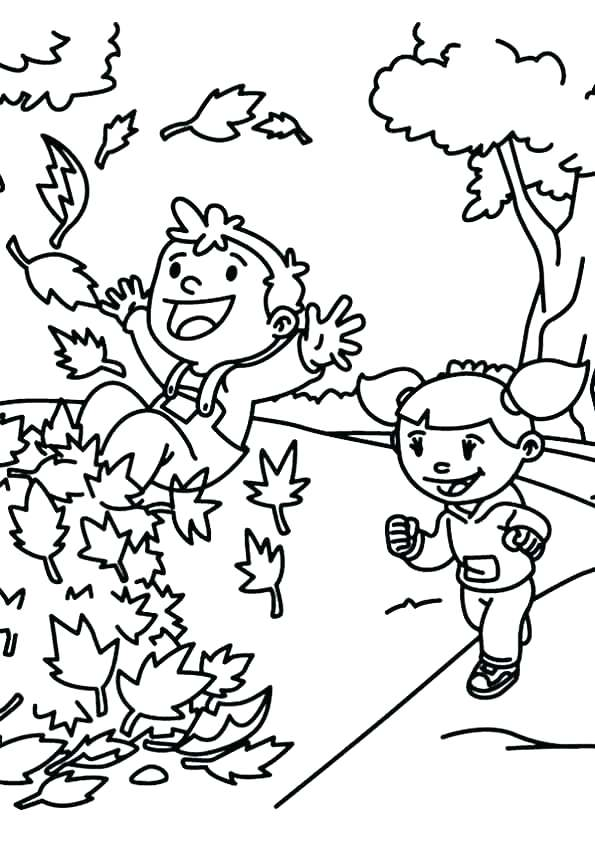 595x842 Coloring Pages Of Fall Fall Leaves Coloring Pictures Fall Leaves