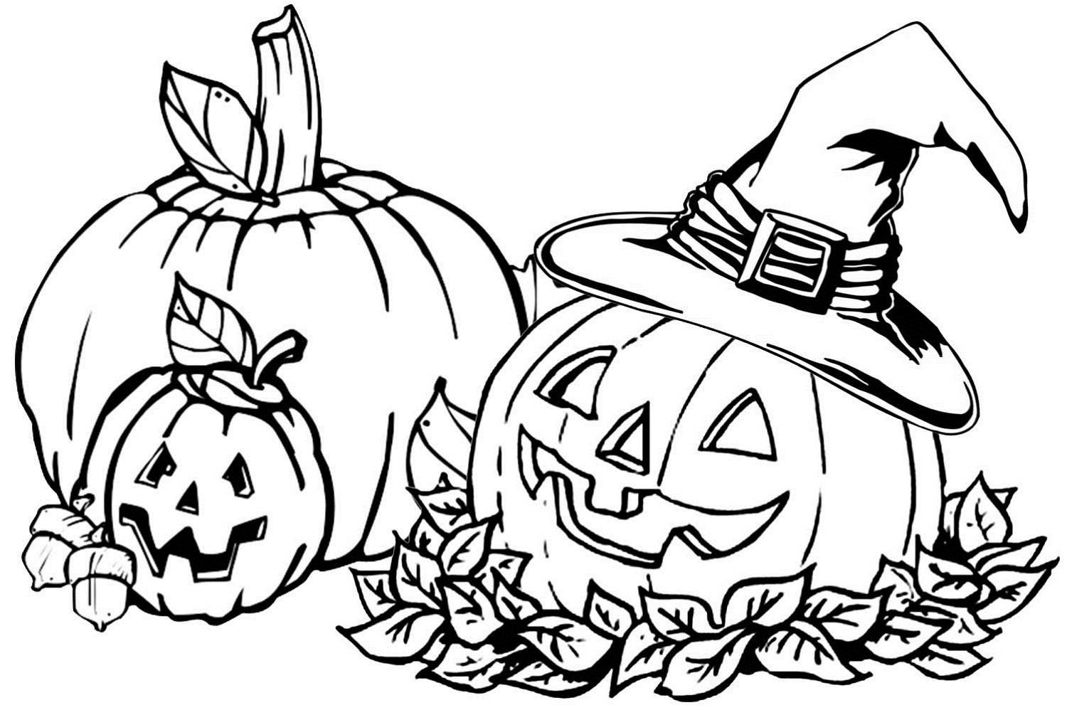 1500x998 Fall Coloring Pages Autumn