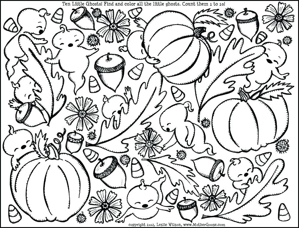 1008x768 Free Printable Autumn Coloring Pages