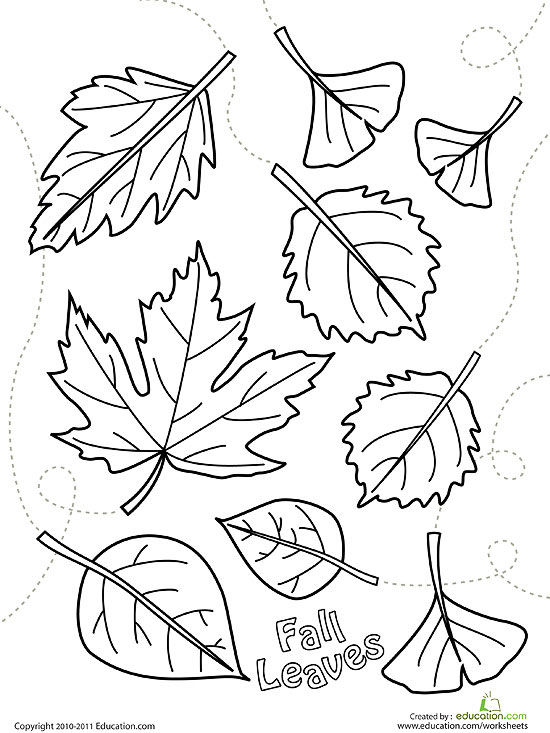 550x733 Printable Fall Coloring Pages